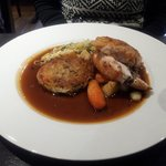 chicken with haggis and potato rosti