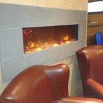 cozy fireplace when you walk in the door