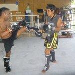 Training with most cool guy, Phoo (Suwan chansri)