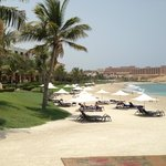 LOOKING ACROOS TO BEACH TO AL HUSN HOTEL