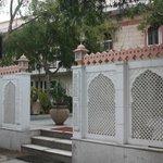 door of villa