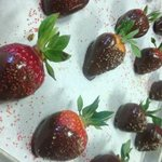 chocolate covered strawberries with sprinkles