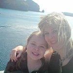 poignant last holiday photo,  me and Beki