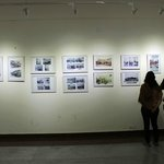 Visitors take in the old Bangalore photos exhibition