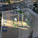 View from our window of playground