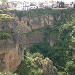 The view of old Ronda just around the corner of the Parador de Ronda