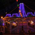 Suryanarayan Temple lit up in the evening