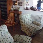 Interior de la casa de té