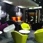 Newly designed lounge bar with fireplace