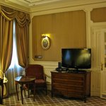 Premium room and cable/sat tv, wardrobe.