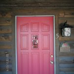 front door of cabin # 5
