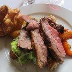 roast lamb sunday joint: very tough.
