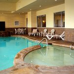Indoor pool with spa