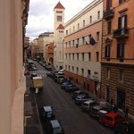 Photo taken from 2nd floor room, looking down the side street, Via Toscano