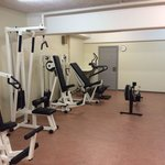 Extensive cardio and weights??? Poorly maintained.NB there is nothing else in the room this is i