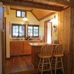 Sugar Pine Cabin Kitchen Area
