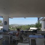 Breakfast/sitting area with view to distant hills