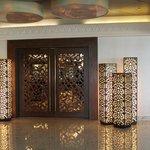 Beautiful decorative door to the buffet restaurant area