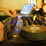 DJ playing his fresh music