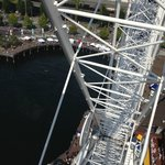 Looking down from the top of the wheel