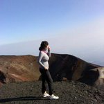 my daughter at top of Etna