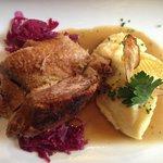 1/4 Ente auf Blaukraut mit Kartoffelpüree