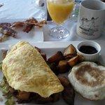 Irish omelet for breakfast at Jonathan's.  HUGE portion!!!