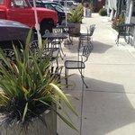 Sidewalk seating @ A Deli with PieMan Pies