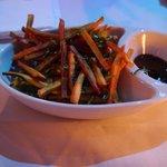 yam fries w/ basil