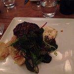 Fillet steak with onion petals
