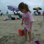 our youngest princess on the beach