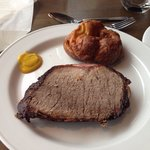 Roast beef English mustard scrummy baked ham and a a Yorkshire pud