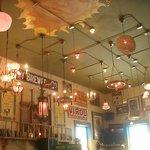 Ceiling...lots of vintage fixtures. McMenamins are known for fabulous art, fixtures, etc.
