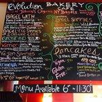 Menu Featuring lots of Organic, Gluten Free & Vegan options