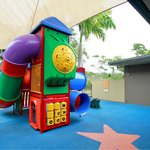 Our indoor and outdoor kids area will keep the kids busy!