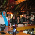 Crazy ladies having fun with are locals at the Elkhorn lodge
