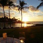 Dinner mit Sonnenuntergang