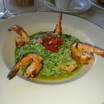 Jumbo Shrimp over Cilantro Risotto