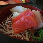 Sashimi in Bento Box.