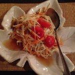 Delicious papaya salad
