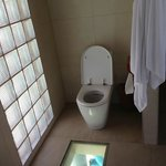 The washroom in the overwater villa