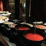 Fresh pasta bar at the buffet