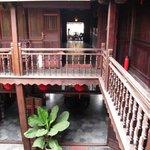 Second floor view over courtyard