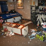More of the aftermath in the gift shop