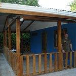 the small blue cabin