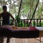 Massage on my patio of my room