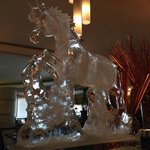Nice ice carving to celebrate the year of the horse.