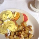 one of the breakfast options, eggs benedict