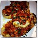 Prawn & Chorizo Bruschetta