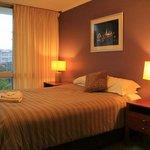 Bedroom with Brisbane views